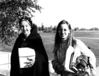 Geri with Anais Nin in the 70s