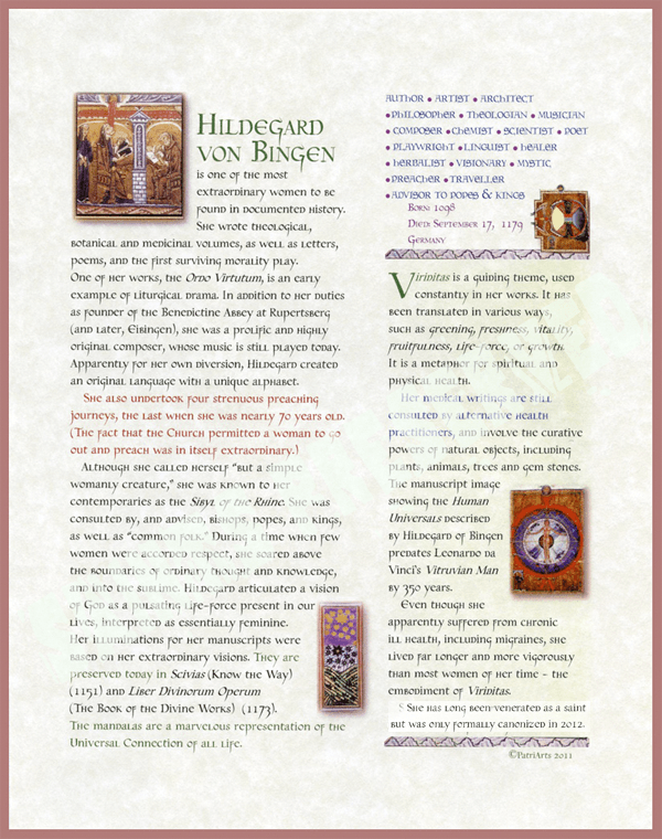 Hildegard biography illuminated manuscript