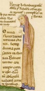 Herrad of Landsberg abbess, poet